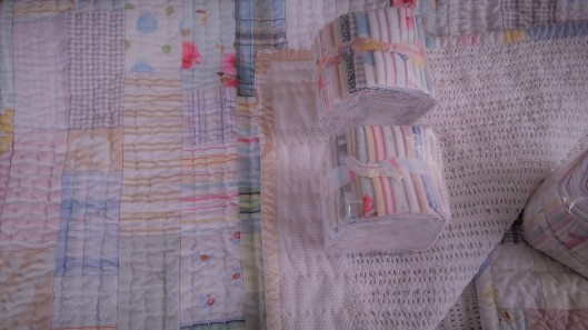 worn and washed fabrics cellular blanket cot quilt